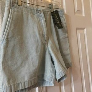 ralph lauren light wash dress denim shorts 10P NEW